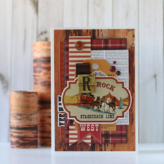 Stagecoach Card featuring Cowboy Country Collection