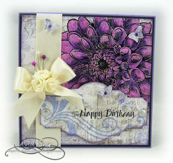 Purple Burst Dahlia