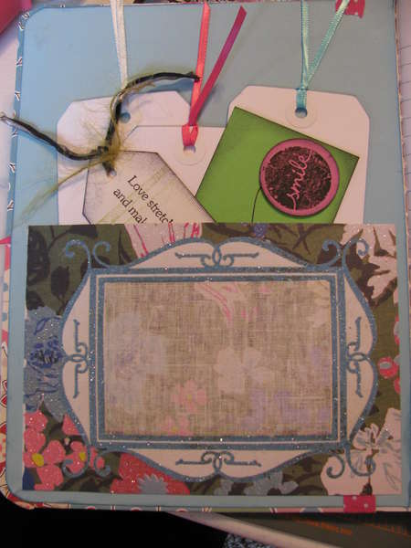 Inside cover to secret sister journal swap