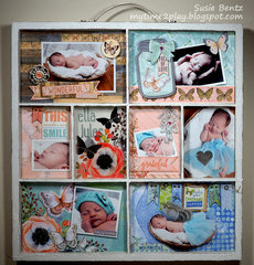 Butterfly Kisses Baby Photo Tray