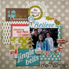 Christmas layout with DieNamites