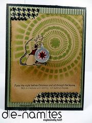 Christmas Mouse Card  *DieNamites Dies*