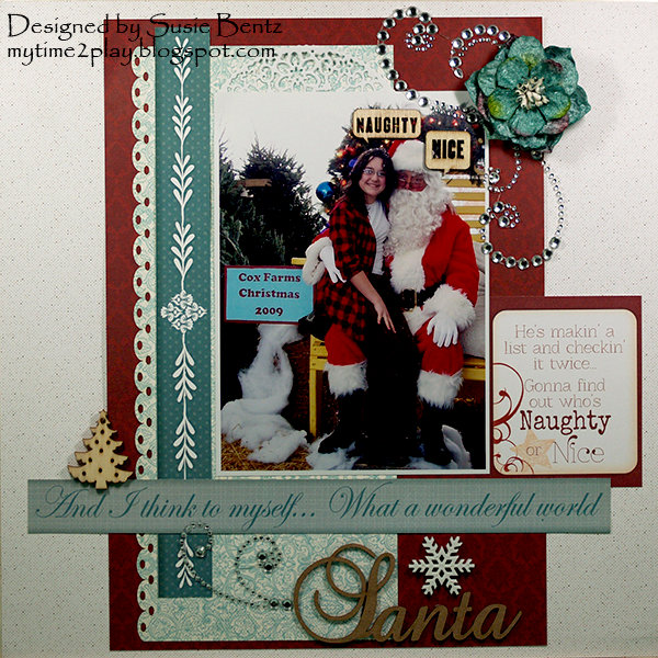 Christmas Santa Naughty or Nice Layout *Quick Quotes*