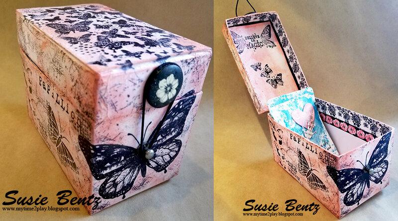 Mixed Media Butterfly Treasure Box