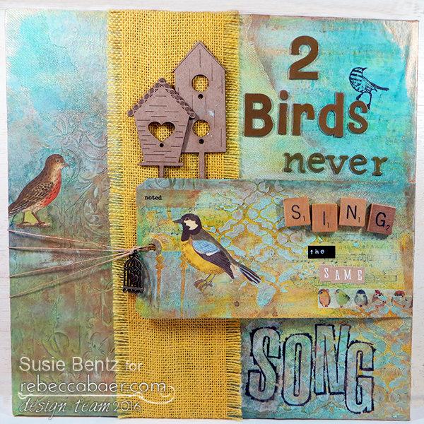 2 Birds Mixed Media Canvas