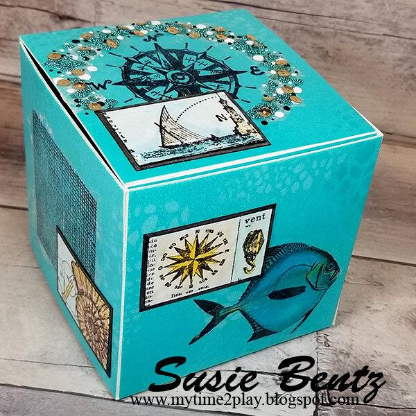 Decoupage Ocean Gift Box