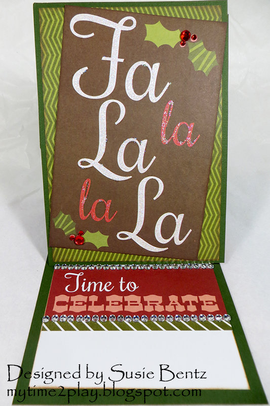 Christmas Easel Card *Want2Scrap*