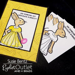 Chocolate Bunnies Easter Card