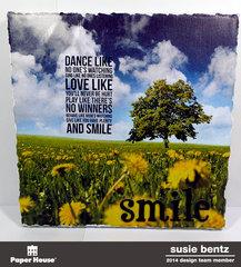 Home Dec Canvas - Dance, Love, Smile   *Paper House*