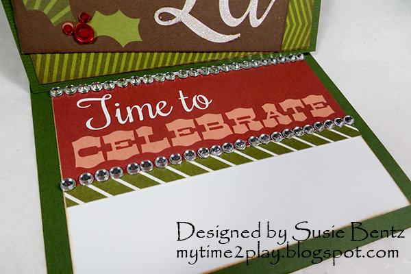 Christmas Easel Card (inside) *Want2Scrap*