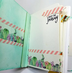 Desert Cactus Washi Tape Mini Album - Inside 1