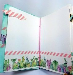 Desert Cactus Washi Tape Mini Album - Inside 3
