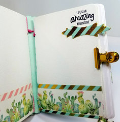 Desert Cactus Washi Tape Mini Album - Inside 2