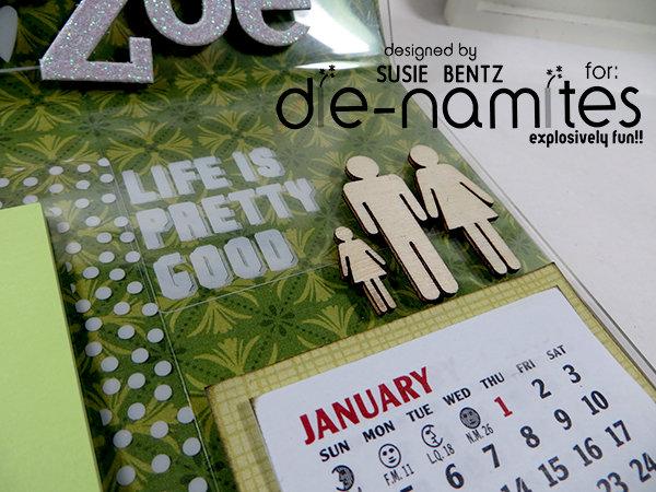 Photo Frame Desk Calendar 2 *Die-Namites Dies*