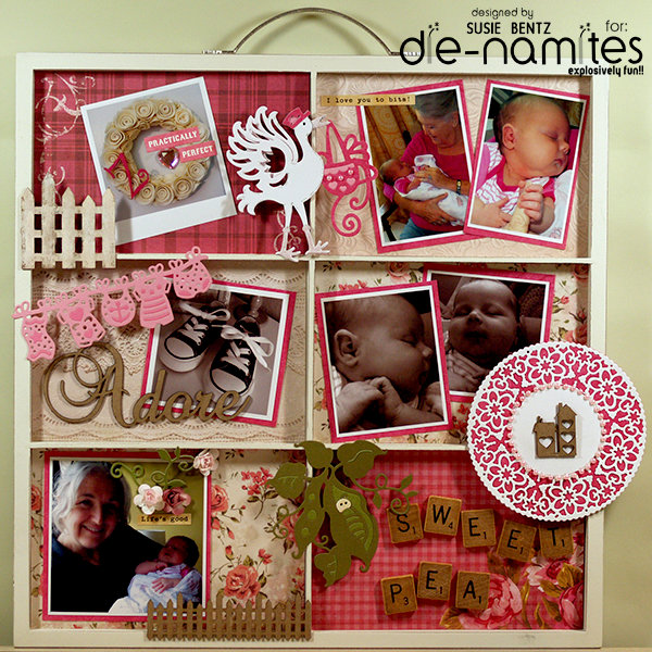 Sweet Pea Baby Photo Tray *Die-Namites*