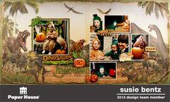 Dinosaur Halloween **Paper House**