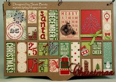 Printer's Tray Christmas Album - Cover