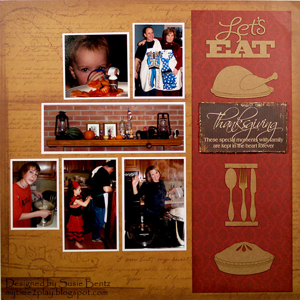 Let's East - Thanksgiving Layout  **Quick Quotes**