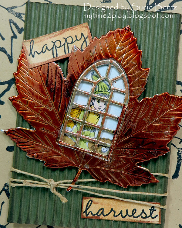 Happy Harvest Fall Card - CLose Up