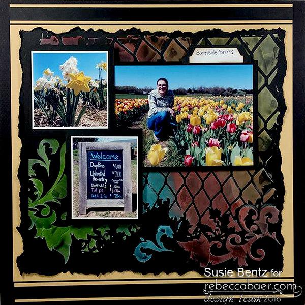 Tulip Mixed Media Layout