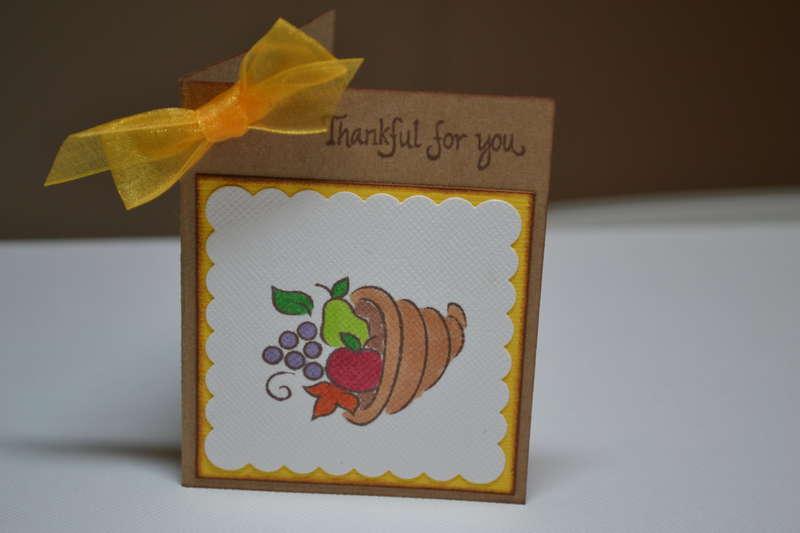 Thankful for You mini card