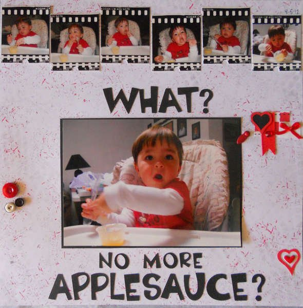 What?  No more applesauce?