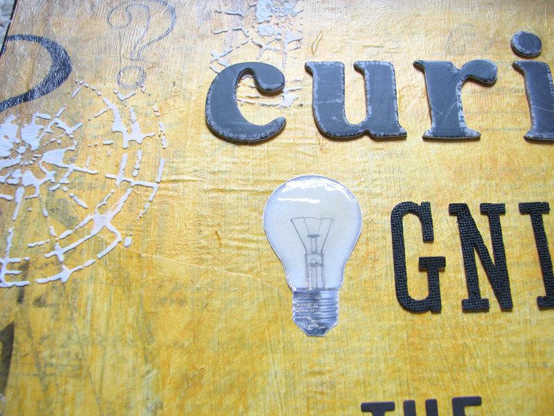 Curiosity Ignites The Imagination - Art Journal