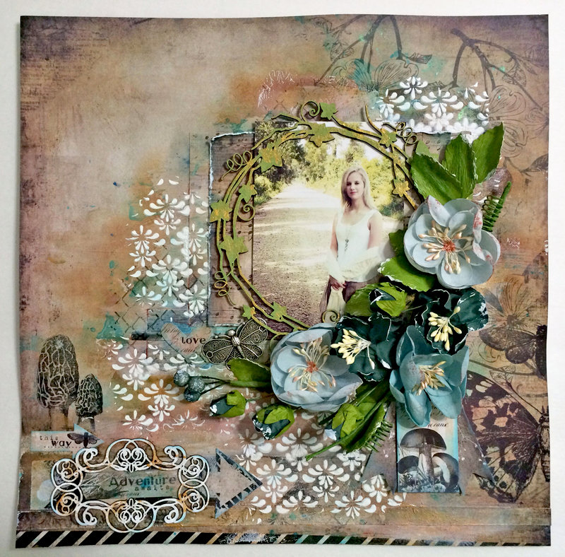 """Adventure awaits"" DT work Creative Embellishments"