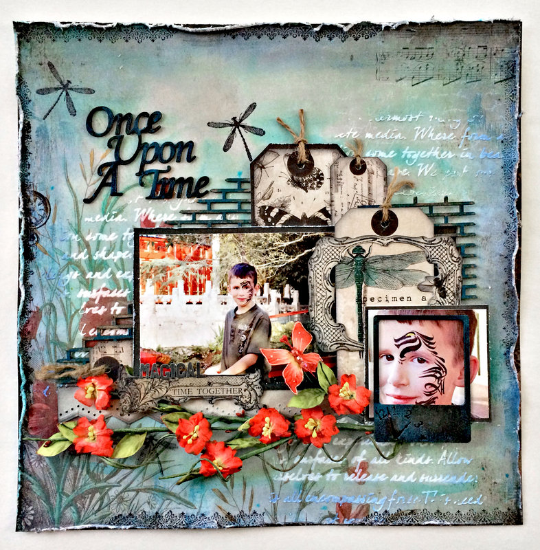 """""""Once Upon A Time"""" DT work Creative Embellishments and Flying Unicorn"""
