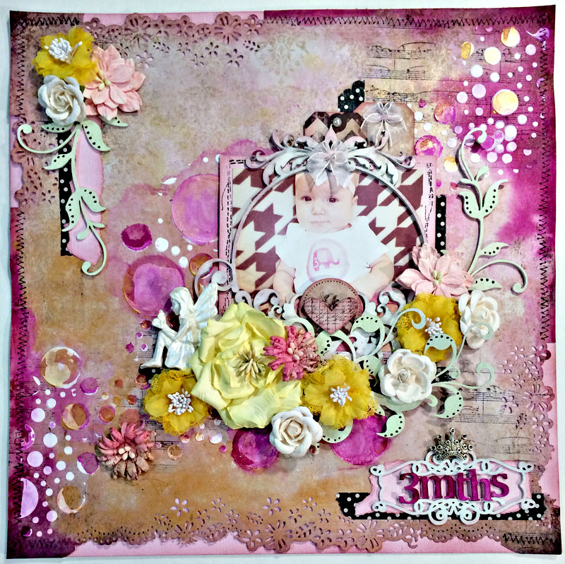 """""""3mths"""" DT work Creative Embellishments and CT work Flying Unicorn"""