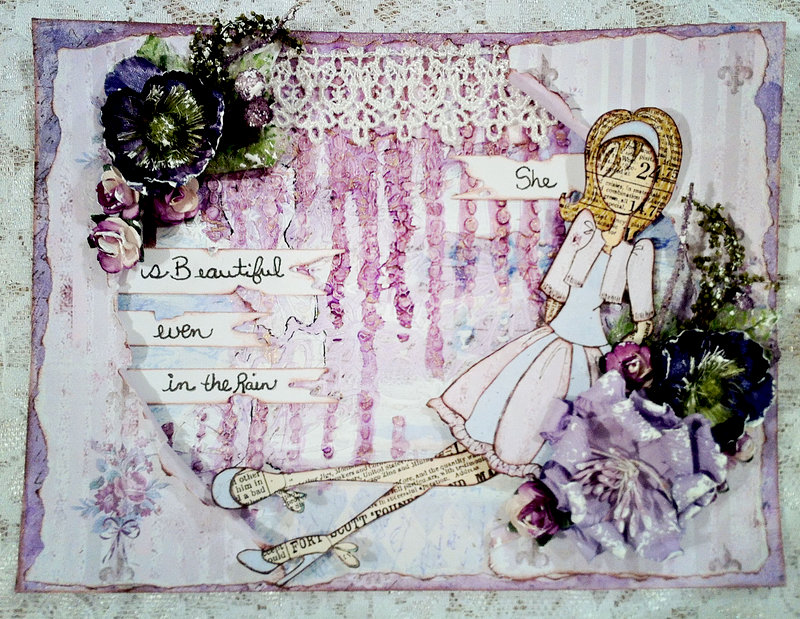 """Journal page"" **CT work Flying Unicorn** Coffee and Muse Blog Hop"