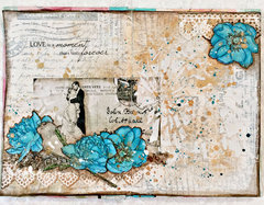 Art Journal page CT work for Flying Unicorn