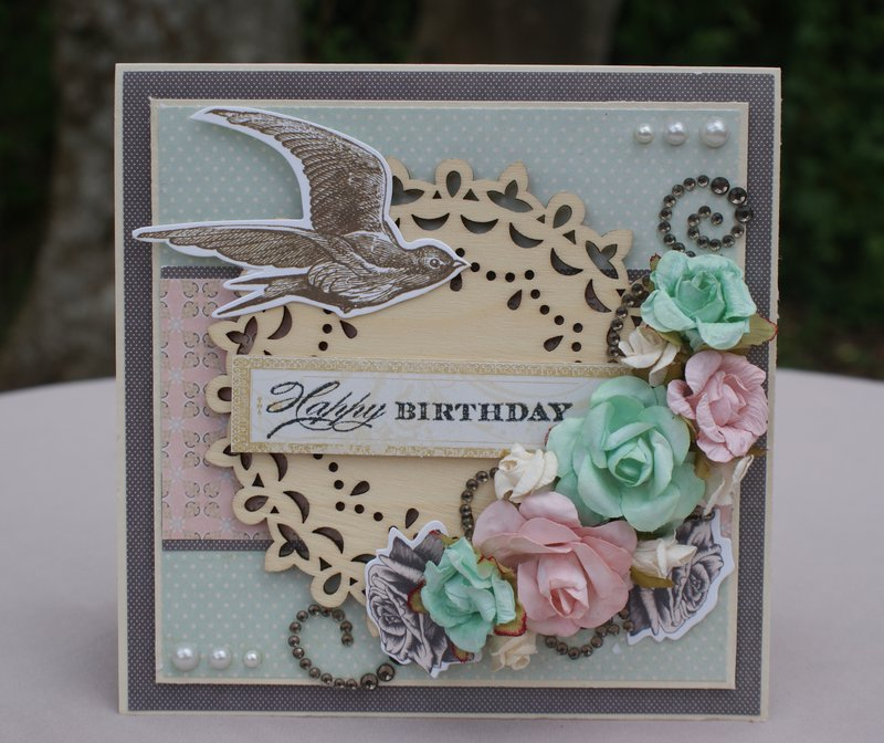 """Happy Birthday"" Shabby Chic Card"
