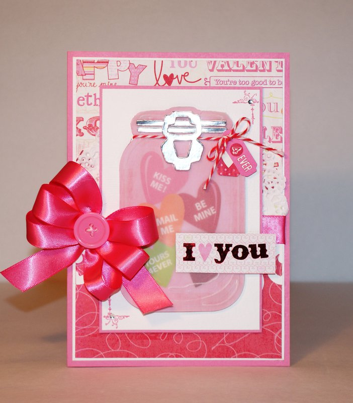 Mason Jar Valentine's Day card