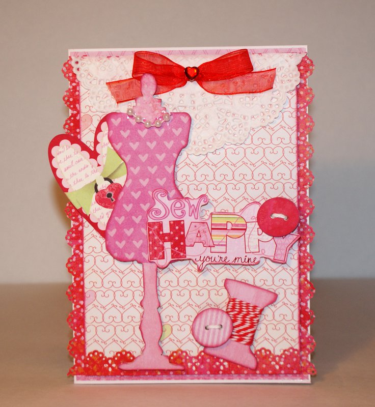 Sewing Room Valentine's Day card