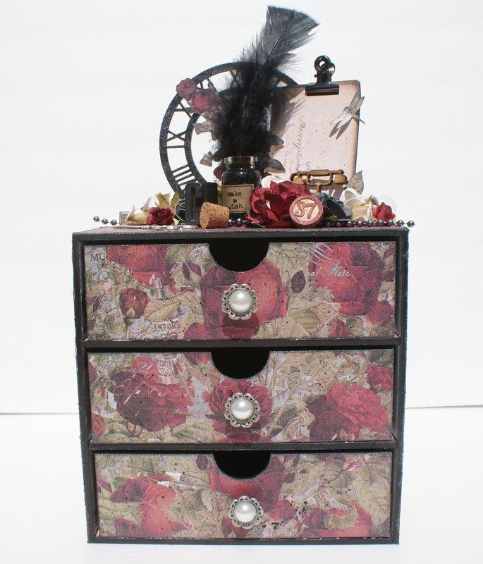 Stationer's Desk Altered Dresser