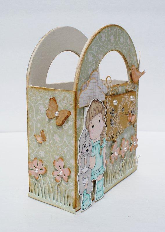 Magnolia Altered Wood Gift Box 1