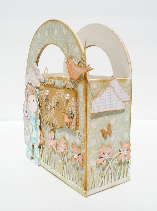 Magnolia Altered Wood Gift Box 1