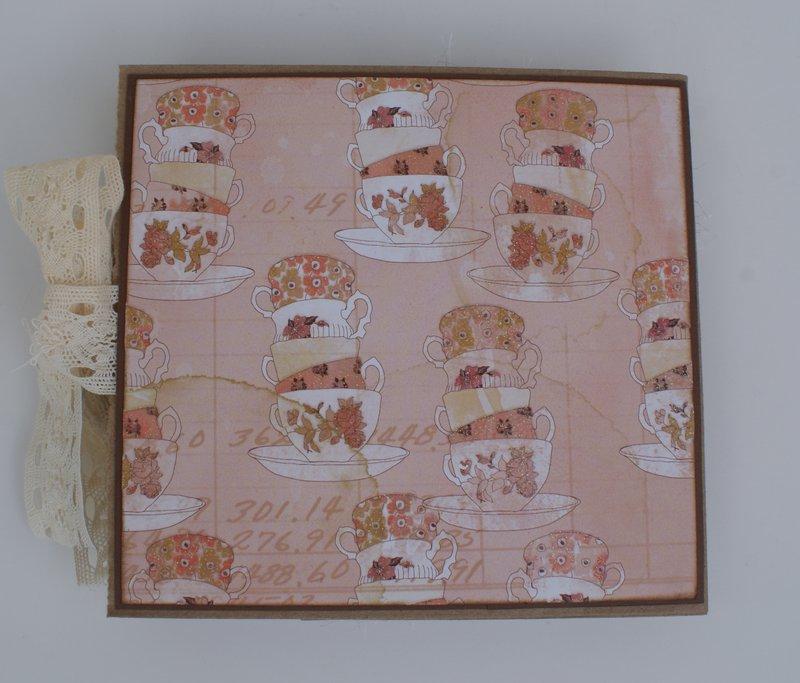 Vintage Tea Themed Paper Bag Card
