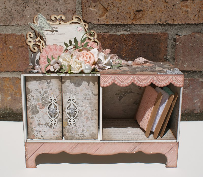 Rustic Harmony Altered Cupboard for Lace Storage