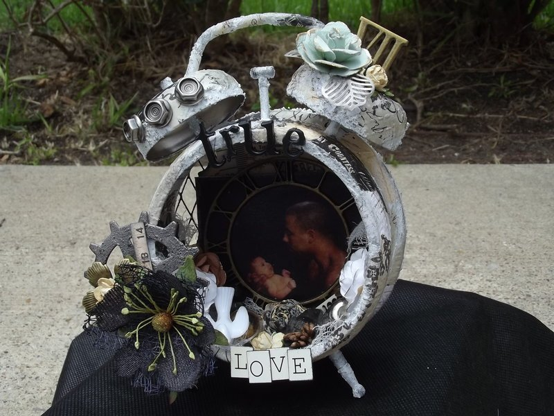 Father's Day Altered Clock