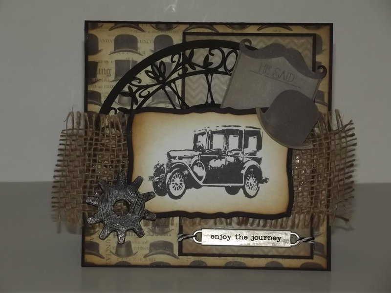 """Enjoy the journey"" Masculine card"