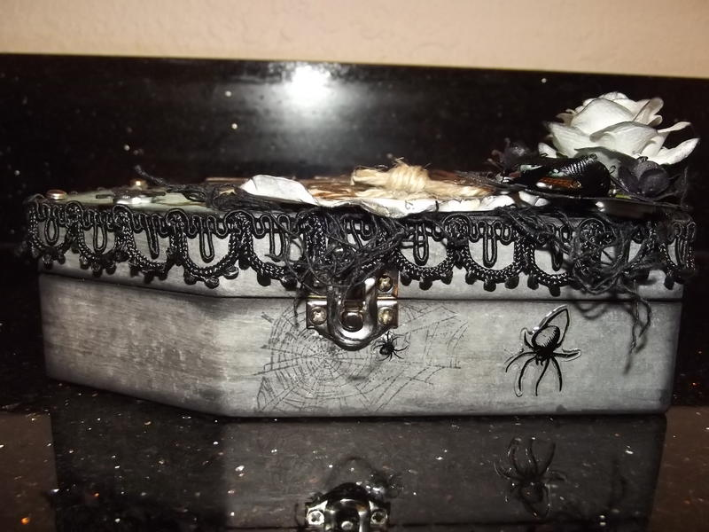 Altered wood coffin 2 (side view)