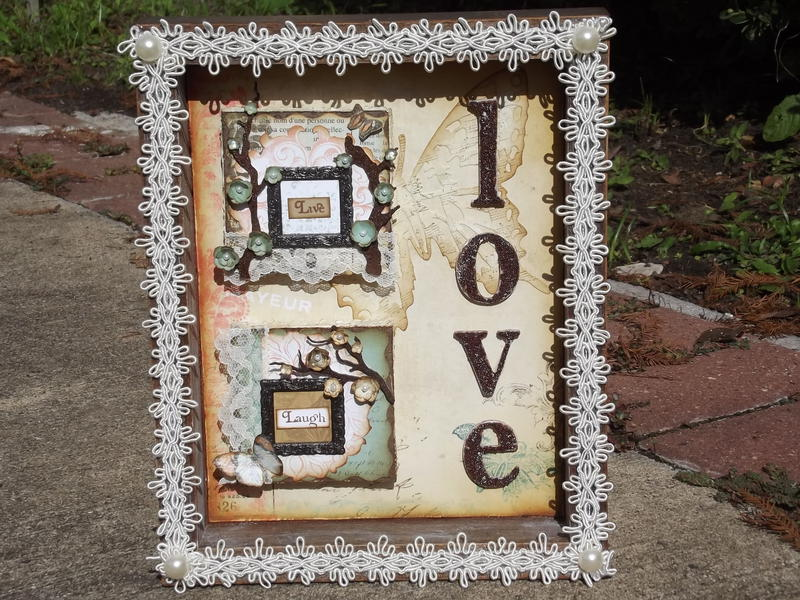 Mini Canvas Shadow Box Decor