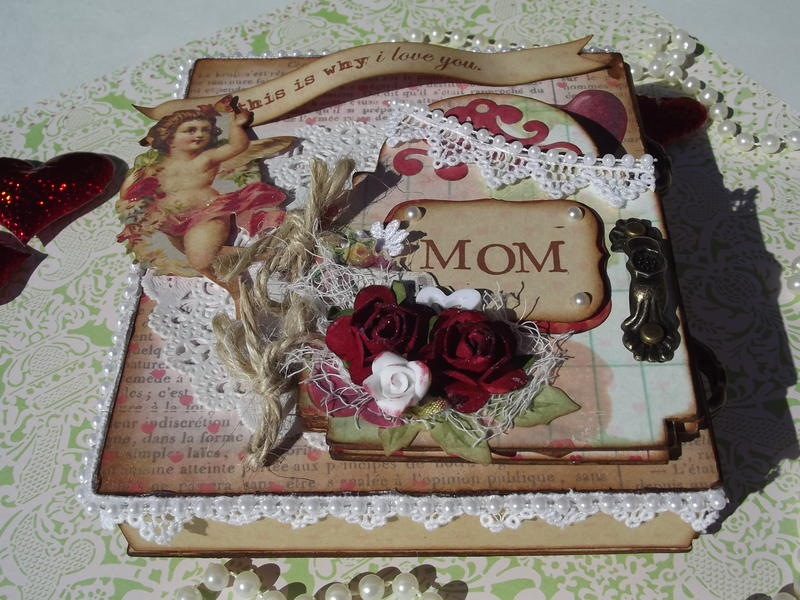 Valentine's Day Matchbox Drawers with Book (top)