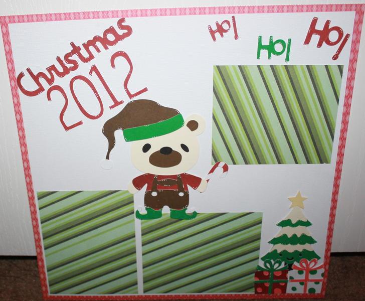 Christmas 12x12 Scrapbook Layout