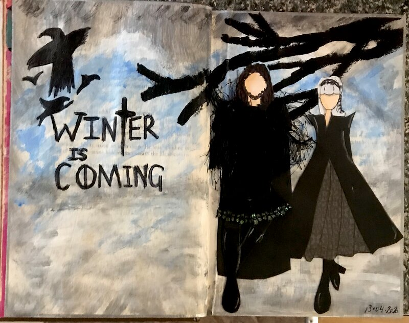 Art Journal page - Game of thrones