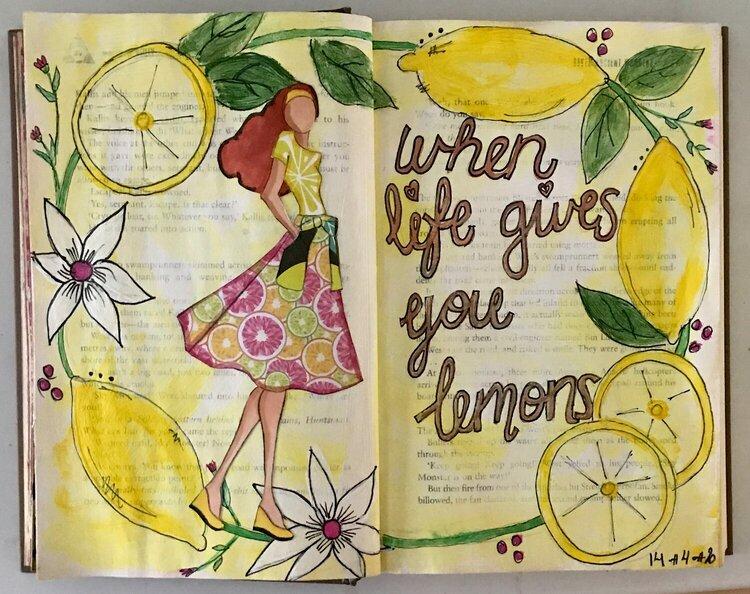 Art journal page - Phoebe