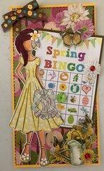 Altered Spring Bingo Tag