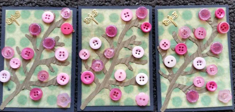 Cherry Blossom ATCs